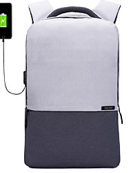 cheap -14 Inch Laptop / 15.6 Inch Laptop Commuter Backpacks Polyester Solid Color Unisex Water Proof Shock Proof with USB Charging Port / Headphones Hole