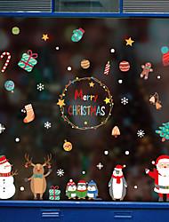 cheap -Window Film & Stickers Decoration Patterned / Christmas Geometric / Character PVC(PolyVinyl Chloride) Window Sticker / Door Sticker
