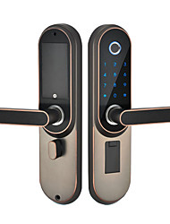 cheap -Factory OEM A1s Zinc Alloy / Aluminium alloy lock / Fingerprint Lock / Intelligent Lock Smart Home Security Android System Fingerprint unlocking / Password unlocking Home / Office / Hotel Wooden Door
