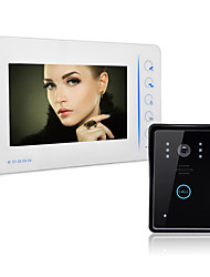 cheap -Wired Video Doorphone 7 inch Hands-free 800*480 Pixel One to One Doorbell Intercom 1/4 Inch Color CMOS Sensor 800x480 Outdoor Unit Wall Mounted Hands-free