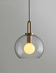 cheap -1-Light 25 cm Pendant Light Metal Glass Globe Electroplated Modern / Nordic Style 110-120V / 220-240V