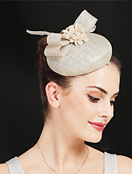 cheap -Ostrich Fur / Pearl / Linen / Cotton Blend Headbands / Flowers / Hair Accessory with Feather / Petal / Floral 1 Piece Party / Evening / Belmont Stakes Headpiece