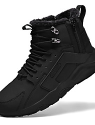 cheap -Men's Fashion Boots Leather Winter Sporty Boots Warm Black / Brown / Black and White