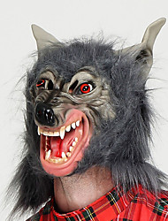cheap -Wolf Mask Halloween Props Masquerade Mask Men's Masks Halloween Halloween Carnival Masquerade Festival / Holiday Plastic Black Men's Women's Carnival Costumes