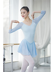 cheap -Ballet Outfits / Unitards Women's Training / Performance Nylon Split Joint 3/4 Length Sleeve High Leotard / Onesie / Pants