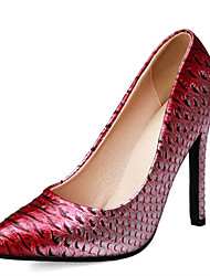 cheap -Women's Heels Stiletto Heel Pointed Toe PU Spring &  Fall Gold / Burgundy / Silver / Party & Evening