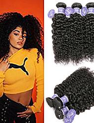 cheap -6 Bundles Indian Hair Kinky Curly Remy Human Hair 100% Remy Hair Weave Bundles Headpiece Natural Color Hair Weaves / Hair Bulk Bundle Hair 8-28 inch Natural Natural Color Human Hair Weaves