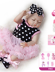 cheap -20 inch Reborn Doll Baby Girl Kids / Teen with Clothes and Accessories for Girls' Birthday and Festival Gifts