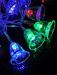 cheap -1.5m Christmas Bell String Lights 10 LEDs Warm White RGB White Christmas Night Light Party Decorative AA Batteries Powered 1 set
