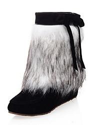 cheap -Women's Boots Hidden Heel Round Toe Suede Mid-Calf Boots Winter Black / Pink / Beige