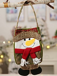 cheap -Gift Bags Holiday Cotton Fabric Mini Novelty Christmas Decoration