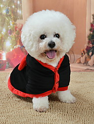 cheap -Dog Outfits Geometric Holiday Halloween Winter Dog Clothes Black Costume Baby Small Dog Polyster XS S M L XL