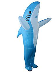 abordables -Shark Costume Gonflable Adultes Adulte Homme Animal Halloween Halloween Fête / Célébration Rayon / polyester Bleu Homme Femme Déguisement Carnaval / Collant / Combinaison / Manuel D'Utilisation