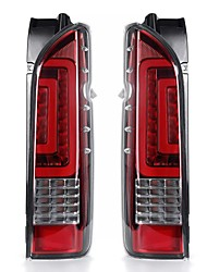 cheap -Pair Red Lens Car Rear Tail Brake Light Turn Signal Lamps For TOYOTA HIACE 2005-2019