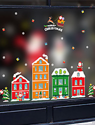 cheap -Window Film & Stickers Decoration Happy New Year / Christmas Holiday / Character PVC(PolyVinyl Chloride) Window Sticker / New Design