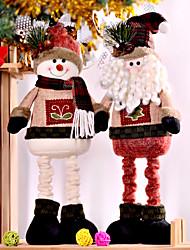 cheap -Christmas Figurines / Christmas Ornaments Family Flannelette Square Cartoon / Cartoon Toy Christmas Decoration