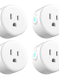 cheap -4 Pack Smart Plug  for Living Room / Study / Bedroom APP Control / Timing Function / Smart WIFI 110-150 V Smart Sokcet Four Pack-US PLUG