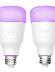 cheap -Yeelight YLDP06YL E26/E27 10W RGBW Smart LED Bulb Work With Amazon Alexa AC100-240V (Xiaomi Ecosystem Product)-2PCS