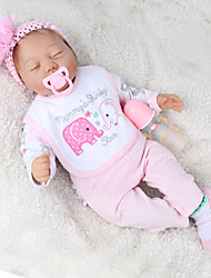 cheap -NPK DOLL 22 inch Reborn Doll Baby & Toddler Toy Reborn Toddler Doll Baby Boy Baby Girl Gift Cute Lovely Parent-Child Interaction Tipped and Sealed Nails Cloth 3/4 Silicone Limbs and Cotton Filled Body