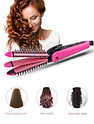 cheap -3in1 Hair Straightener Curling Irons Corrugation Board Styling Tools