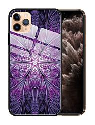 Недорогие -Кейс для Назначение Apple iPhone 11 / iPhone 11 Pro / iPhone 11 Pro Max Защита от пыли / С узором Кейс на заднюю панель Цветы / Градиент цвета ТПУ / Закаленное стекло