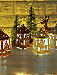 cheap -Christmas Lights Christmas / Holiday Wooden Party Christmas Decoration