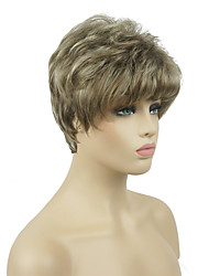 cheap -Synthetic Wig Curly Layered Haircut Wig Blonde Burgundy Short Medium Golden Brown Medium Blonde Dark Auburn Synthetic Hair 6 inch Women's Synthetic Blonde Burgundy
