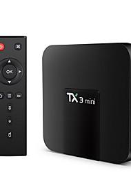Недорогие -tx3 мини андроид 7.1 тв коробка смарт тв h2.65 iptv 4k iptv медиаплеер amlogic s905w 2g 16g tanix box