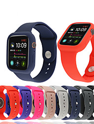 cheap -Silicone Bracelet Strap Shockproof Case for Apple Watch Series 4/3/2/1 Sports Band Protective Bumper