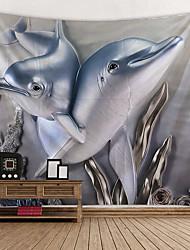 cheap -Beach Theme / Classic Theme Wall Decor 100% Polyester Classic / Modern Wall Art, Wall Tapestries Decoration