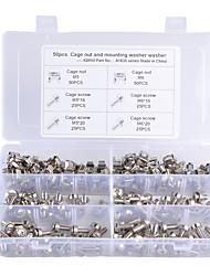 Недорогие -100 шт. / Коробка гайки клетки М5 м6 и винты м5 х 16 мм м6 х 16 мм м5 х 20 мм м6 х 20 мм модели a1835