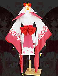 cheap -Inspired by Onmyoji Cosplay Anime Cosplay Costumes Japanese Cosplay Suits Sleeves Underwear Bow For Women's / Kimono Coat / Waist Belt / Kimono Coat / Waist Belt