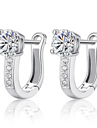 cheap -Women's AAA Cubic Zirconia Earrings Pear Cut Music Notes Stylish Artistic Luxury Trendy Korean Platinum Plated Gold Plated Earrings Jewelry Silver For Christmas Gift Daily Work Festival 1 Pair