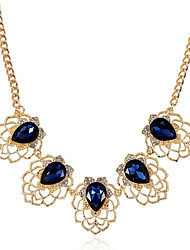 cheap -Women's Crystal Necklace Flower Fashion Chrome Gold 45+5 cm Necklace Jewelry 1pc For Daily