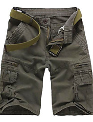 cheap -Men's Hiking Shorts Hiking Cargo Shorts Outdoor Lightweight Breathable Comfortable Anti-tear Cotton Shorts Pants / Trousers Bottoms Hiking Climbing Outdoor Exercise Black Forest Green Army Green 28