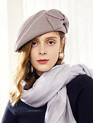 cheap -100% Wool Hats with Bowknot 1pc Casual / Daily Wear Headpiece