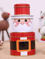 cheap -Gift Boxes Holiday Plastic & Metal Round Novelty Christmas Decoration