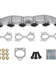 cheap -Cast Iron Exhaust Muffler Manifold Branch For BMW E46 E39 E60 E61 E38 E65 E83 E53 3 5 7 X3 X5