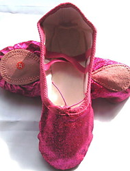 cheap -Girls' Ballet Shoes Canvas Flat Flat Heel Dance Shoes Fuchsia / Pink / Practice