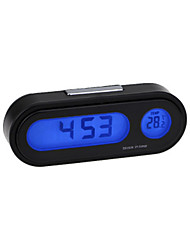 cheap -Car Electronic Clock Thermometer Luminous Thermometer Blue Led Thermometer Timetable