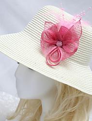 cheap -Rhinestone / Feathers / Fabrics Headwear / Headdress with Rhinestone / Feather / Floral 1 Piece Wedding Headpiece