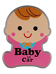 cheap -Cute baby warning car stickers baby in car reflective car stickers magnetic car stickers waterproof and durable good quality
