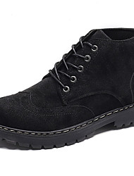 cheap -Men's Combat Boots PU Fall & Winter Boots Black / Army Green / Gray / Outdoor