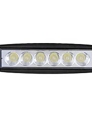 abordables -18w led travaux lumière camion brouillard lumière suv moyenne net avertissement lumière moto flash lumière 6 pouces bande lumière