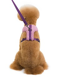 cheap -Dogs Outfits Harness Leash Dog Clothes Purple Blue Coffee Costume Dalmatian Shiba Inu Pug Fleece Solid Colored Ordinary Special S M L XL
