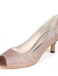 cheap -Women's Wedding Shoes Stiletto Heel Peep Toe Synthetics Minimalism Fall / Spring & Summer White / Champagne / Light Purple / Party & Evening