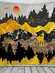 Недорогие -Цветы / Классика Декор стены 100% полиэстер Классика / Modern Предметы искусства, Стена Гобелены Украшение