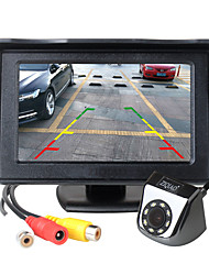 cheap -ZIQIAO 4.3 Inch TFT LCD Screen Car Monitor With Sunshade Auxiliary Parking LED Light Night Vision Rear View Camera Kit