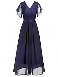 cheap -Audrey Hepburn Retro Vintage 1950s Wasp-Waisted Dress Masquerade Women's Lace Costume Black / Blue Vintage Cosplay Party