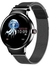 Недорогие -h5 smart watch bt фитнес-трекер с поддержкой уведомлений / пульсометр из нержавеющей стали, совместимые с умными часами, iphone / samsung / android телефоны